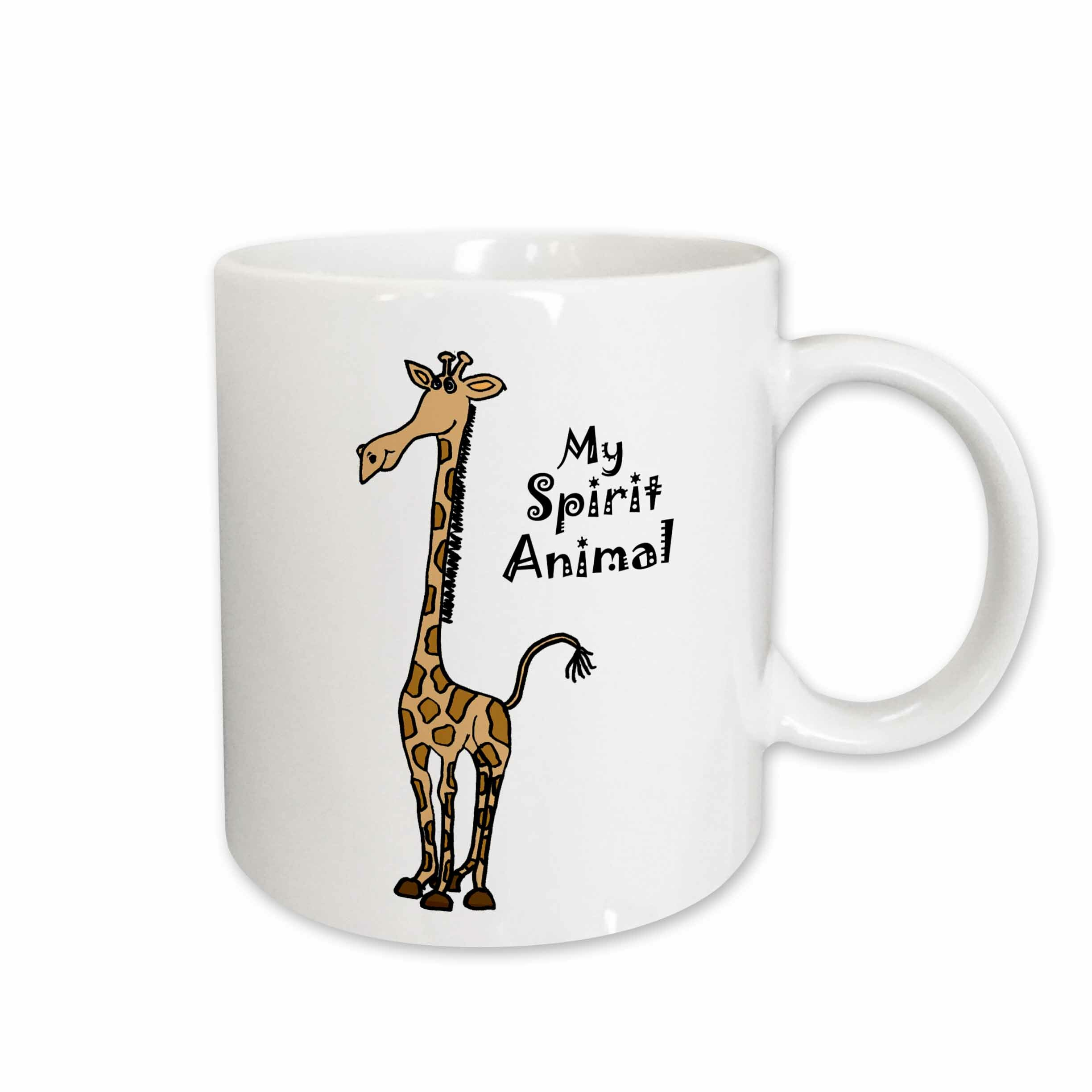 East Urban Home Funny Cute Giraffe Is Spirit Animal Coffee Mug Wayfair
