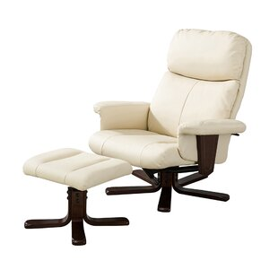 Yale Manual Swivel Recliner With Footstool By Marlow Home Co.