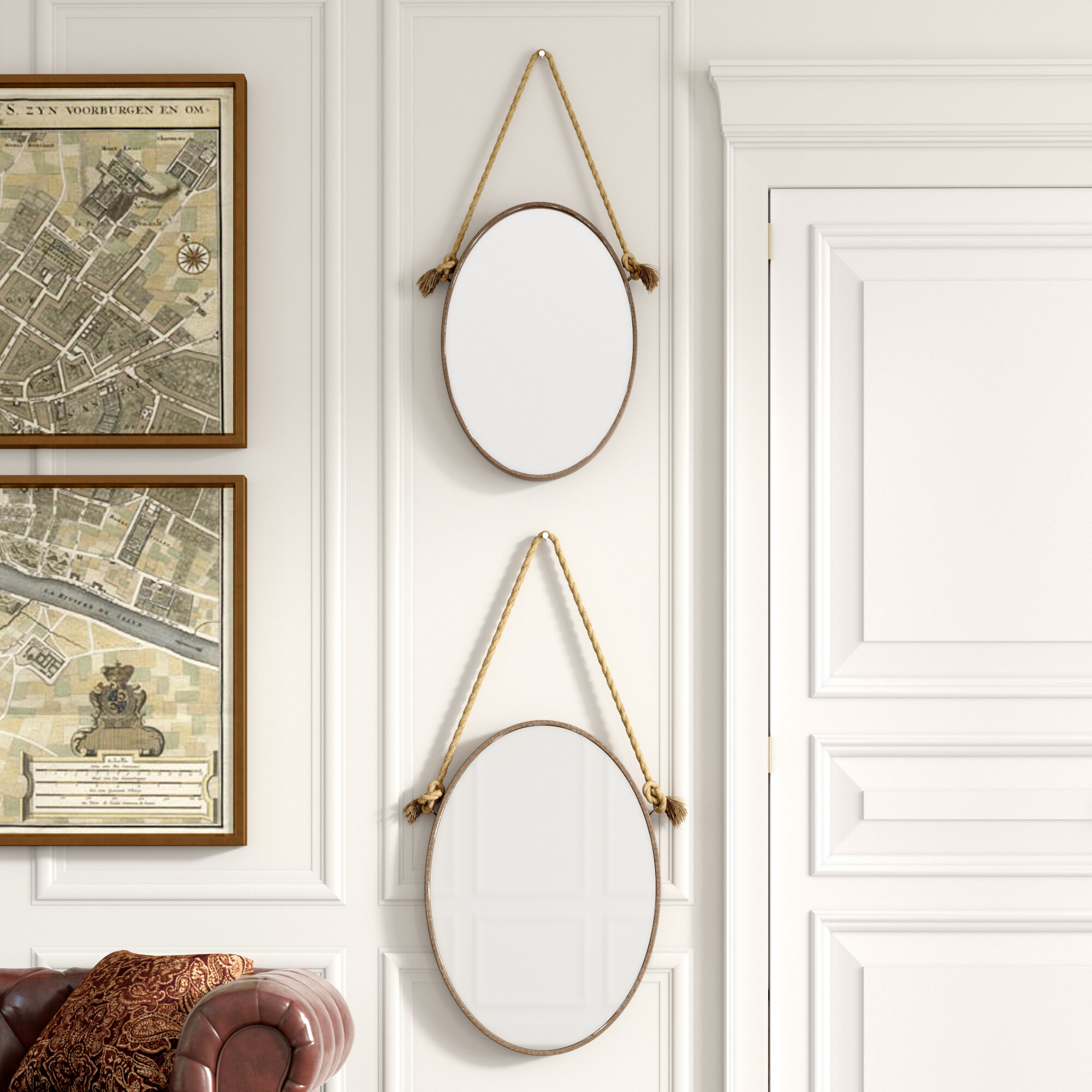 Greyleigh Oglesby Rustic Mirror Set Reviews Wayfair