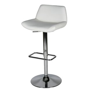 Maya Adjustable Height Swivel Bar Stool Whiteline Imports