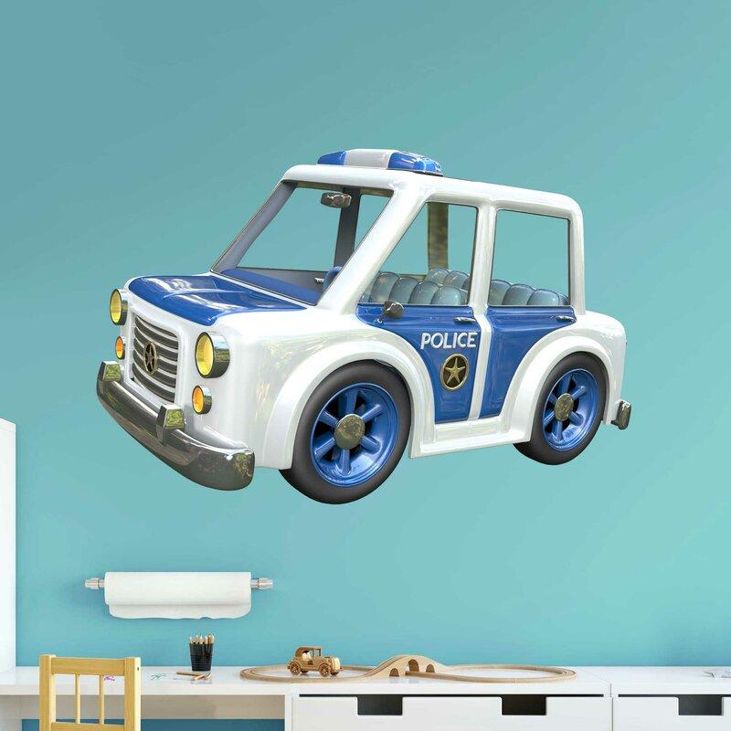 Amazon Com Custom Police Car Wall Decal Nursery Baby Room Art Decor Vinyl Mural Sticker Ld29 28 W X 18 H Home Kitchen