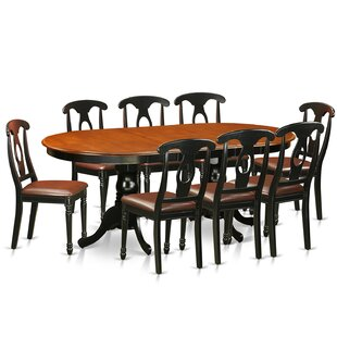 Pilcher Contemporary 9 Piece Wood Dining Set by August Grove Modern