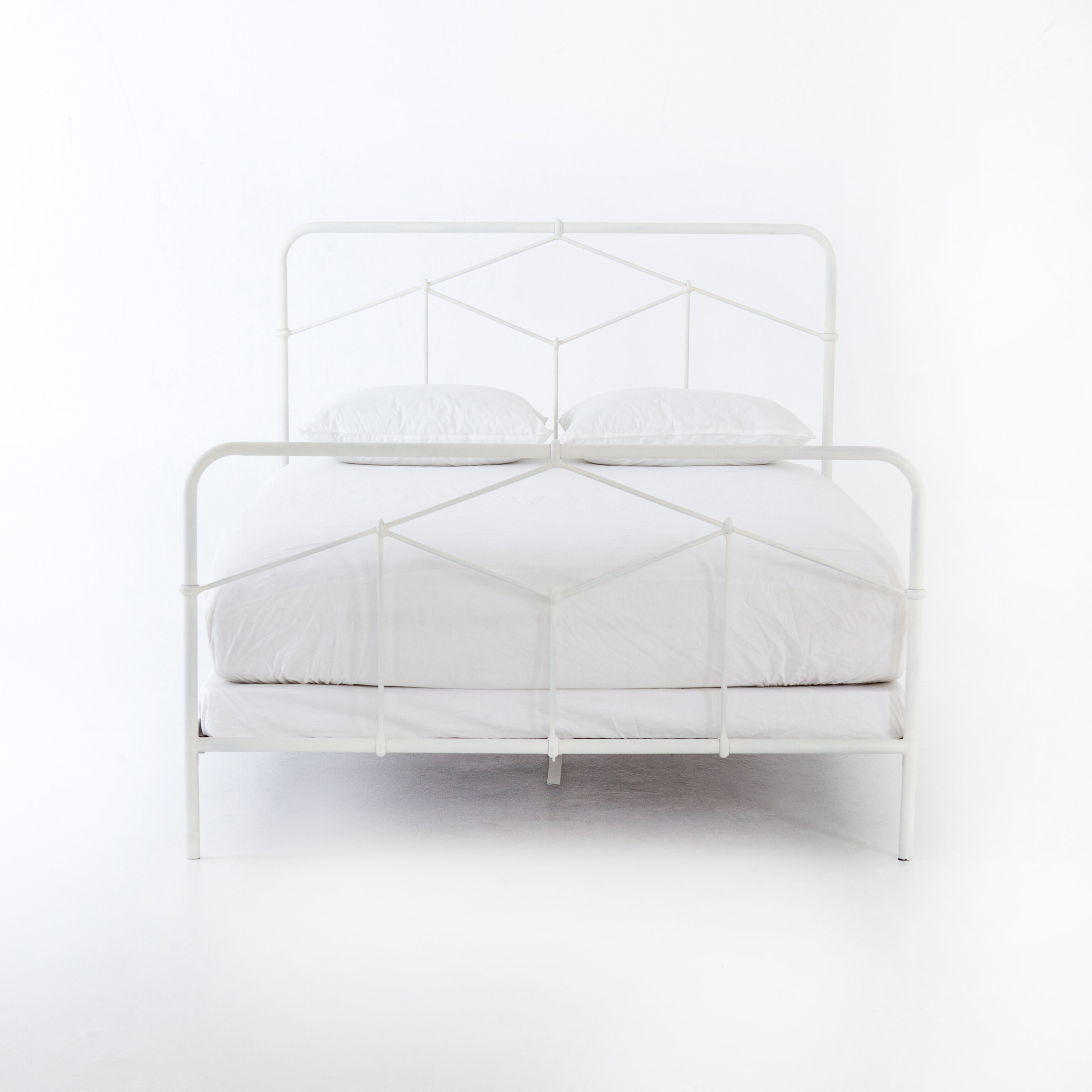 Picture of: Gracie Oaks Felder Iron Bed Wayfair