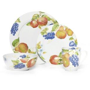 Orchard 16 Piece Dinnerware Set Service for 4  sc 1 st  Wayfair & Cottage u0026 Country Dinnerware Sets Youu0027ll Love   Wayfair