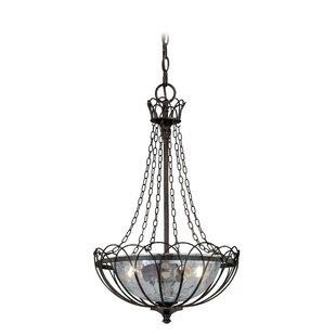 August Grove Flippen 2-Light Bowl Pendant