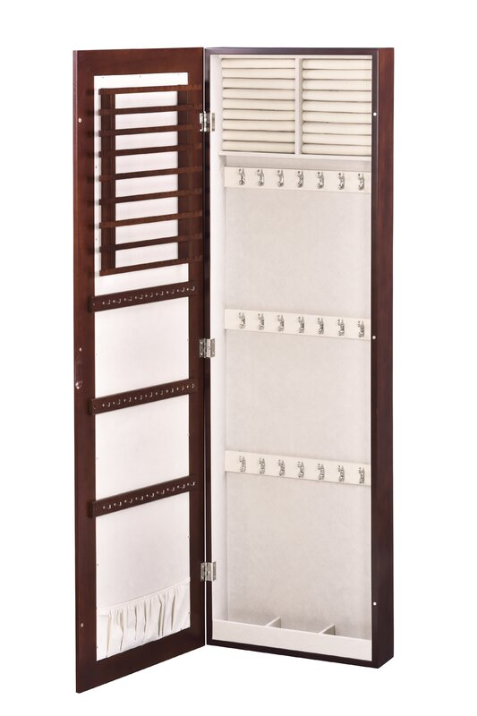HomePointe Wall Mounted Jewelry Armoire with Mirror Reviews Wayfair