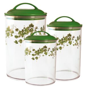 Ivy Acrylic 3 Piece Kitchen Canister Set