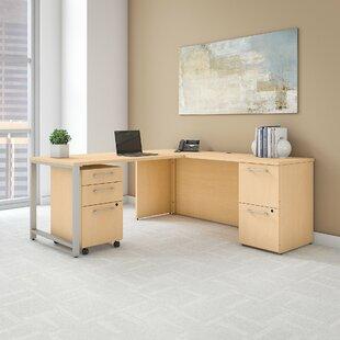 Bush Business Furniture 400 Series 4 Piece Desk Office Suite