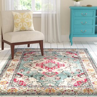 Lennert Light Blue/Fuchsia Area Rug By Mistana