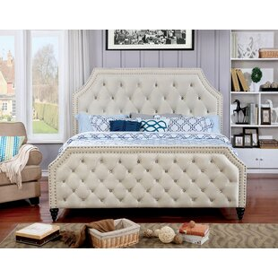 Leath Upholstered Panel Bed by..