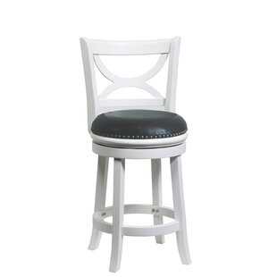 Cristian 24 Swivel Bar Stool Charlton Home