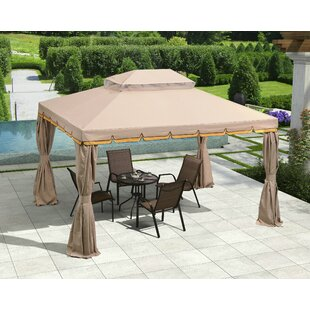 10� Ft. W X 12 Ft. D Metal Patio Gazebo by Purple Leaf