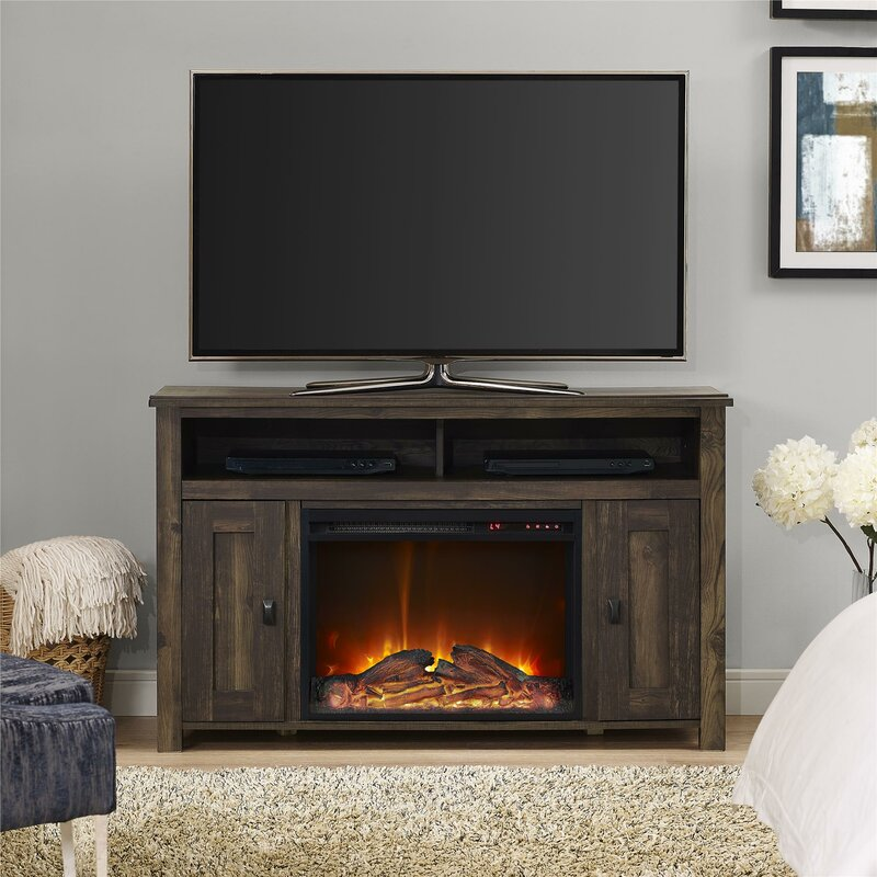Whittier Tv Stand For Tvs Up To 50 With Fireplace Reviews Joss
