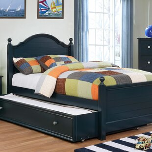 Sweet Platform Bed with Trundle