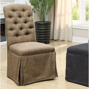 Eleanora Transitional Upholstered Dining Chair (Set of 2) Charlton Home