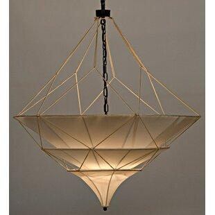 Dynasty 4-Light Geometric Chandelier by Noir