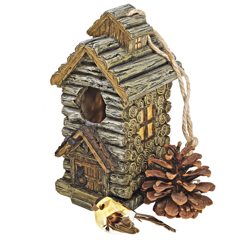 Backwoods Log Cabin Birdhouse