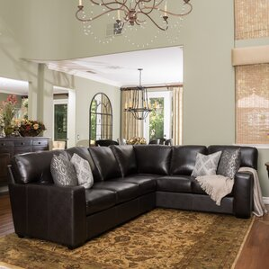 Calabria Leather Sectional by Darby Home Co