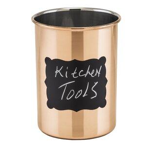 Decor Copper Chalkboard Utensil Crock