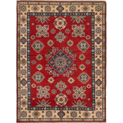 Isabelline One Of A Kind Doering Hand Knotted Wool Dark Burgundy Beige Area Rug Wayfair