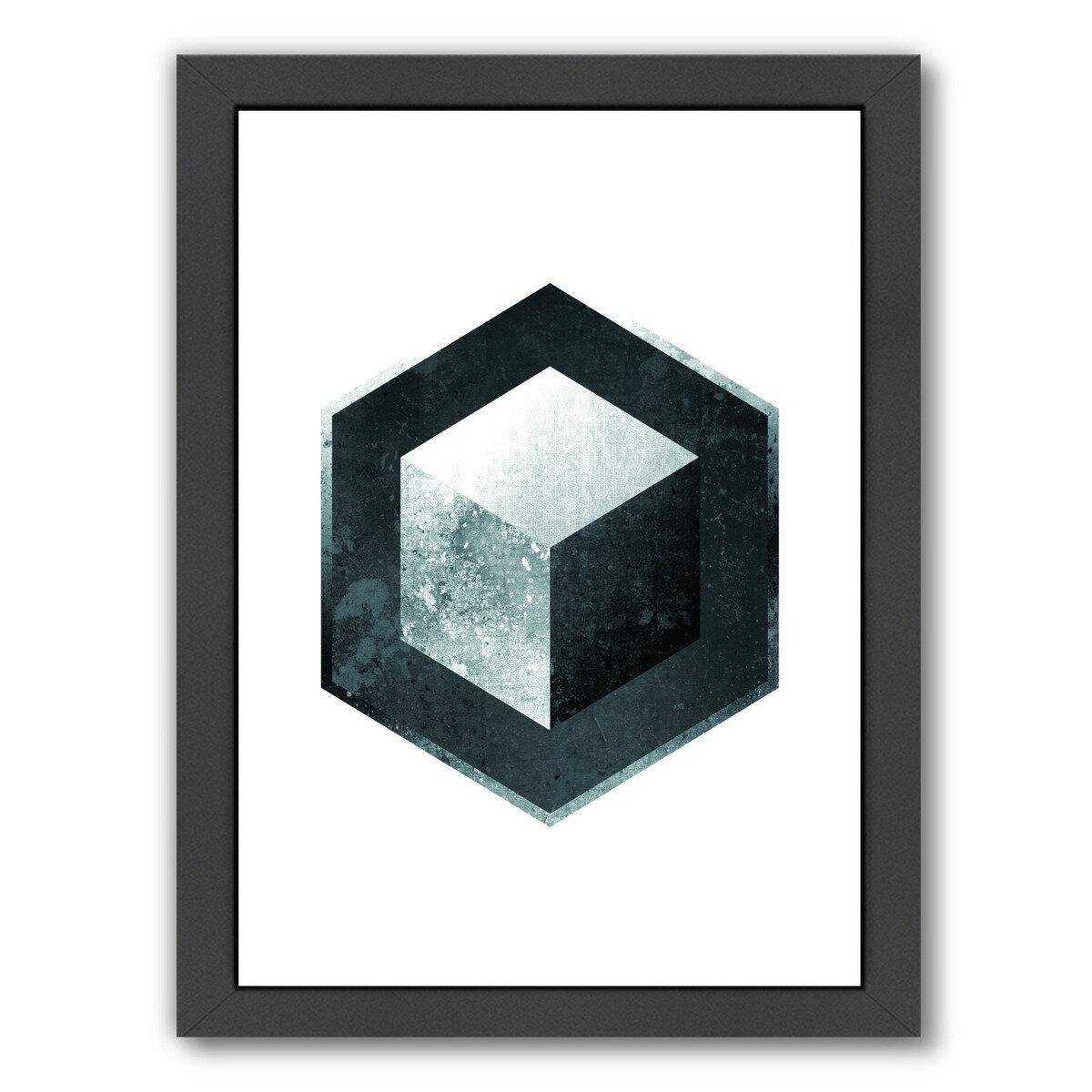 East Urban Home Geometric Art 26 Framed Graphic Art Wayfair