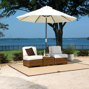 Panama Jack Outdoor St. Barths 3 Piece Conversation Set with Cushions