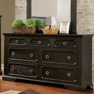 Leeanne 7 Drawer Dresser with Mirror