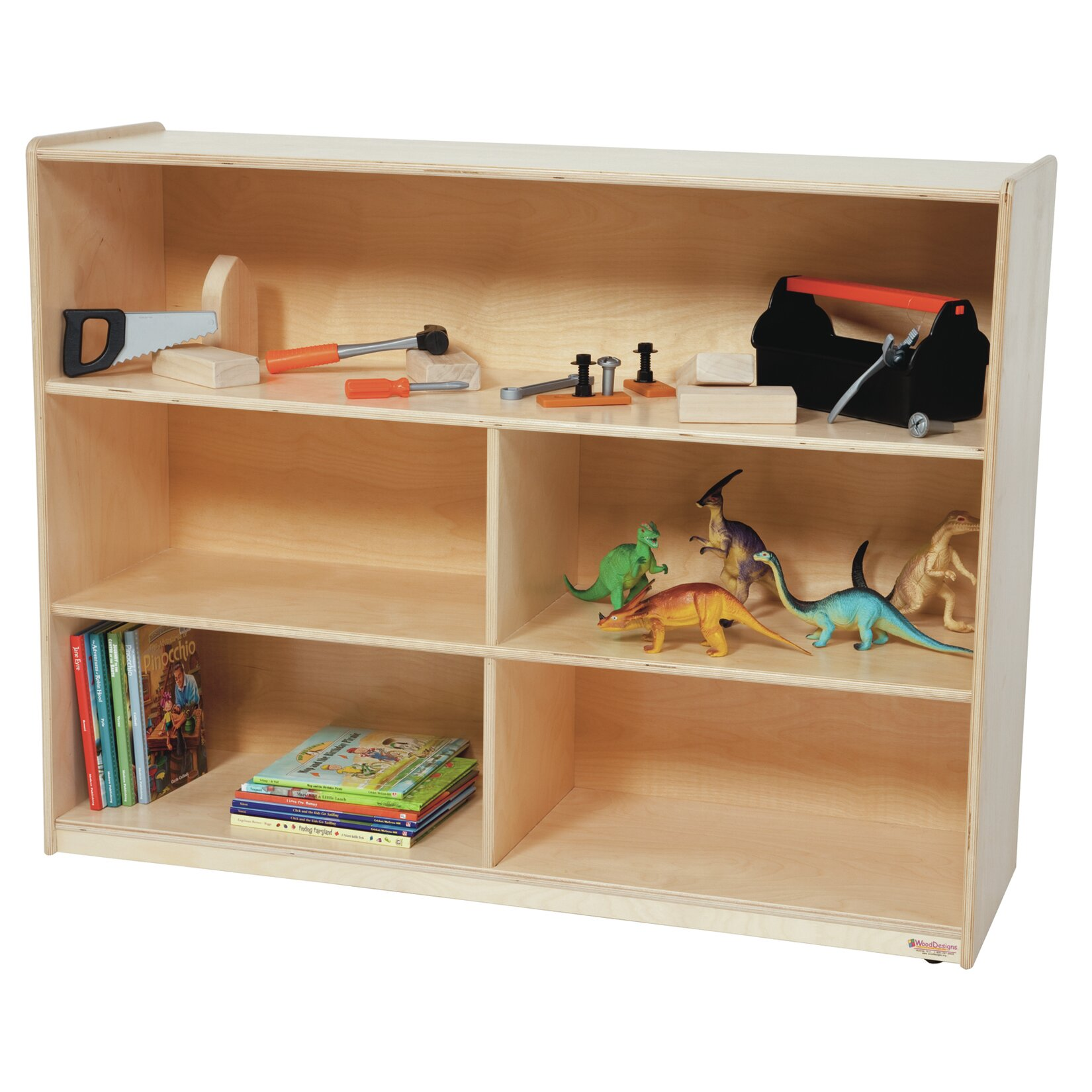 Wood Designs 8 Compartment Shelving Unit With Casters Wayfair