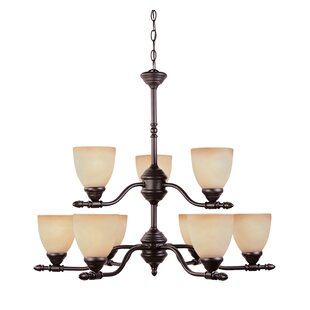 Fleur De Lis Living Alexandria Contemporary 9-Light Shaded Chandelier