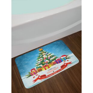 New Christmas Bath Rug By East Urban Home