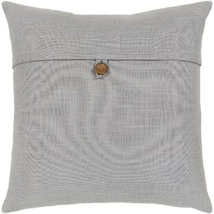 Divisadero Solid and Border Cotton Throw Pillow