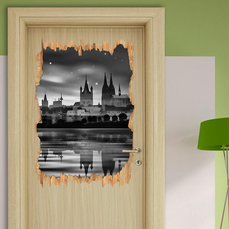 Beeindruckend Wandtattoo Köln Ideen Von East Urban Home Polarlichter über Der Skyline