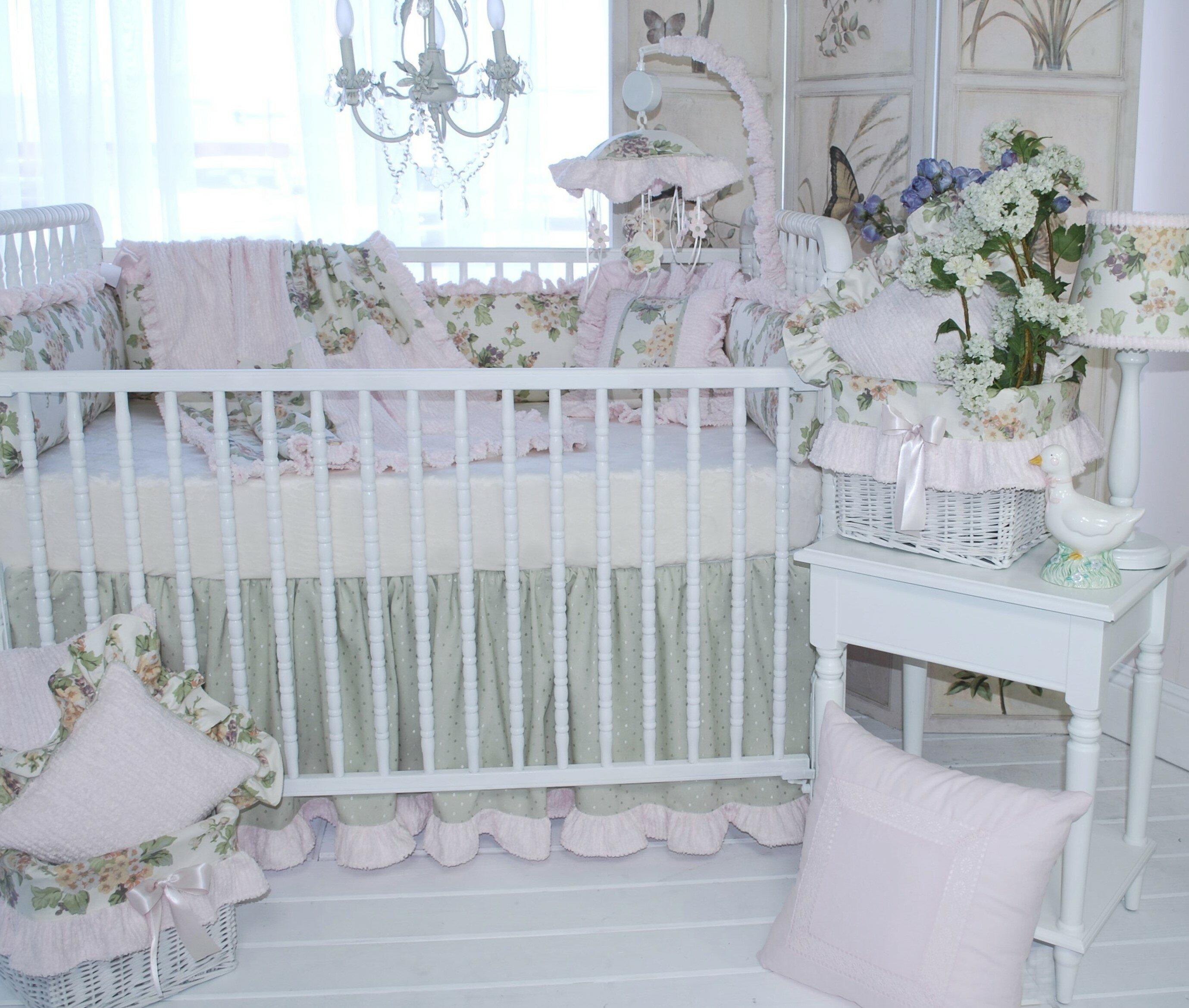 Diaper Stacker Crib Dust Ruffle Receiving Blanket Precious
