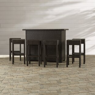 Wrought Studio Silverton 7 Piece Outdoor Dining Set