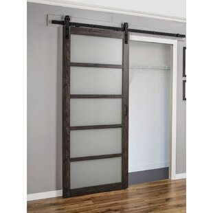 Exceptionnel Sliding MDF/Glass Interior Barn Door With Hardware