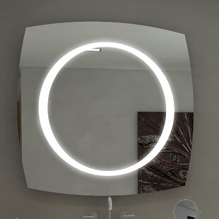 Affordable Halo Illuminated Bathroom / Vanity Wall Mirror By Paris Mirror