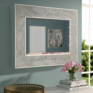 Online Reviews Nidhi Rectangle Metal Wall Mirror By Willa Arlo Interiors