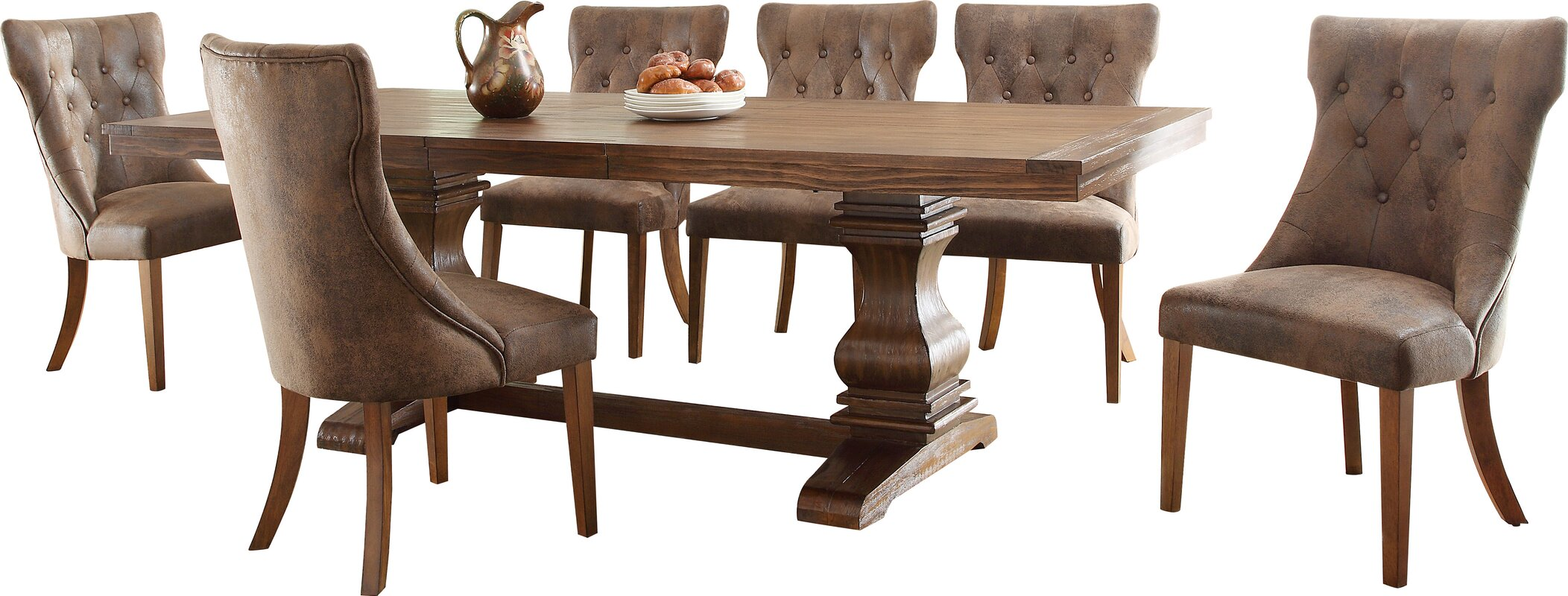 schwager extendable wood dining table - Wood Dining Room Tables