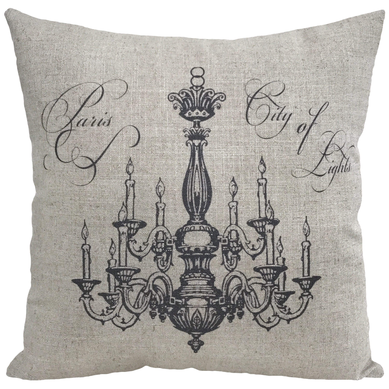 Ophelia Co Elsie Chandelier Linen Throw Pillow Wayfair