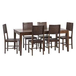 Gambino 7 Piece Dining Set Bloomsbury Market