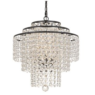House of Hampton Catchings 3-Light Crystal Chandelier