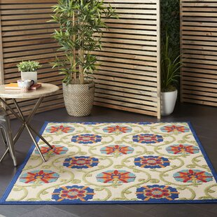 Mariners Contemporary Polypropylene Ivory/Blue/Green Indoor/Outdoor Area Rug