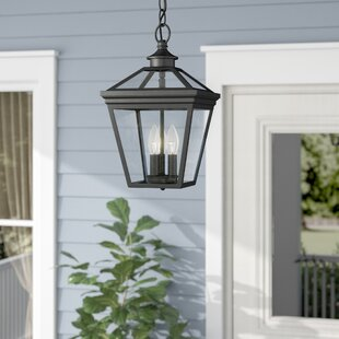 Outdoor hanging porch light wayfair coleg 3 light outdoor hanging lantern aloadofball