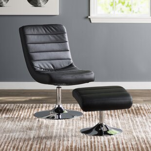 Oberg Swivel Lounge Chair and Ottoman by Orren Ellis