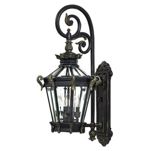 Affordable Stratford Hall 4-Light Outdoor Wall Lantern By Great Outdoors by Minka