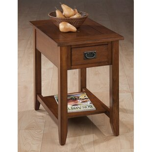 Millwood Pines Zachery Wooden Chairside End Table