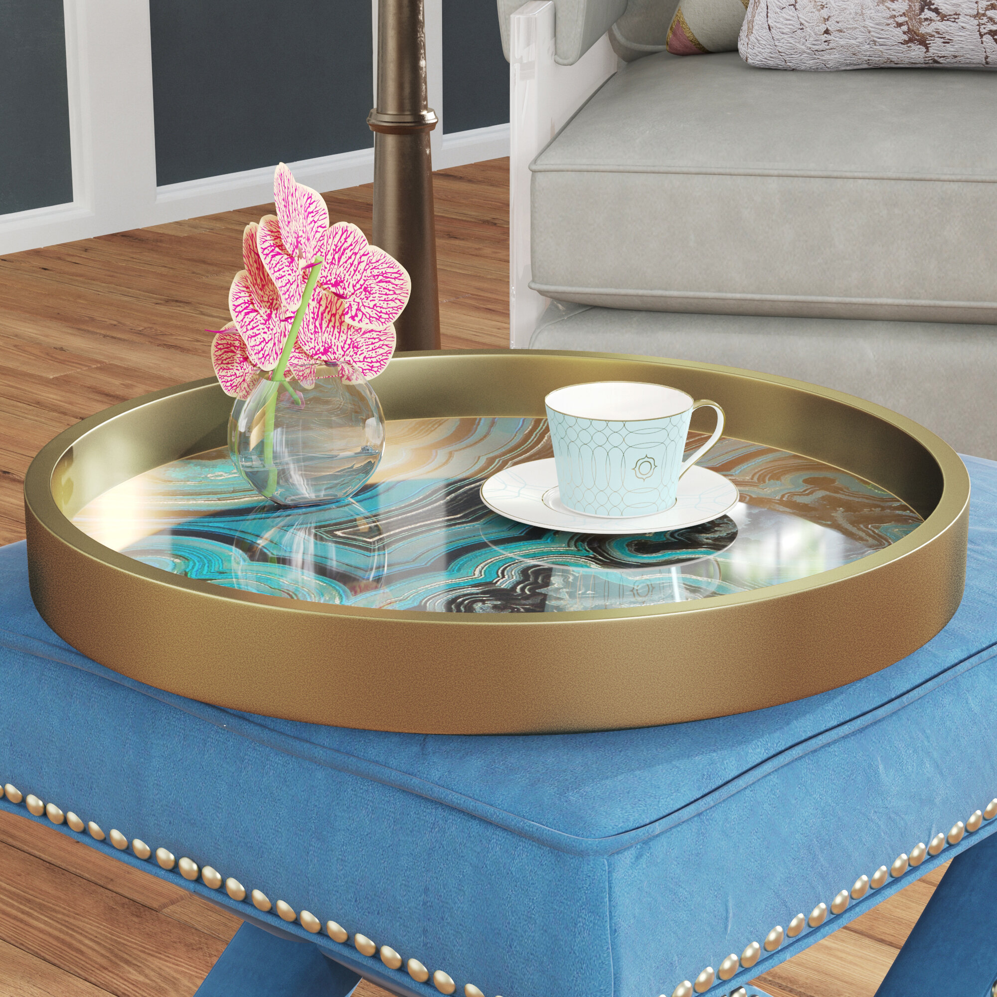 Round Serving Decorative Trays You Ll Love In 2021 Wayfair