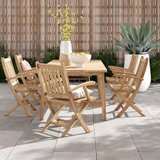Anthony Outdoor Patio 7 Piece Teak Dining Set