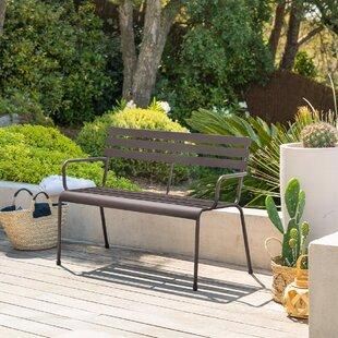 Nifleim Steel Bench By Sol 72 Outdoor