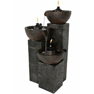 Bloomsbury Market Ambriz Resin Burning Bowls Fire and Water Fountain